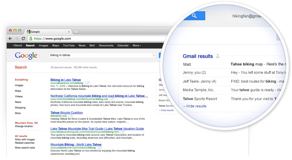 Gmail in Search