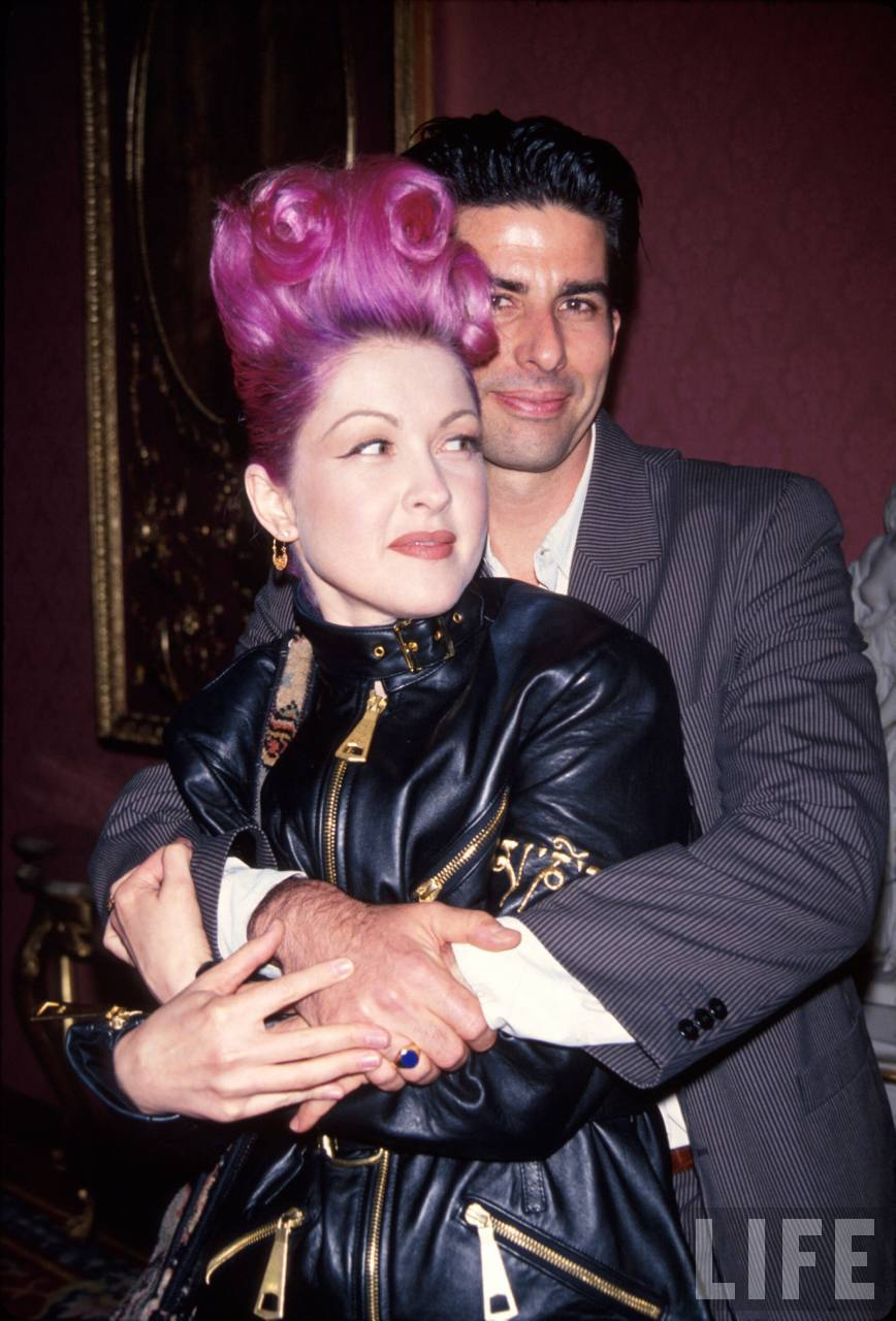 Singer Cyndi Lauper and husband, actor David Thornton.