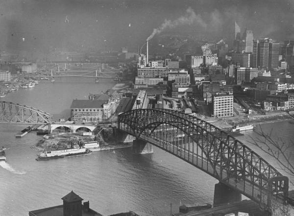 Pgh skyline in 1936