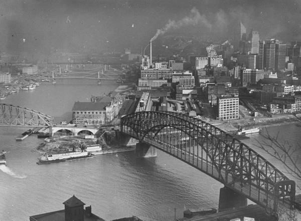 Pgh skyline in 1936