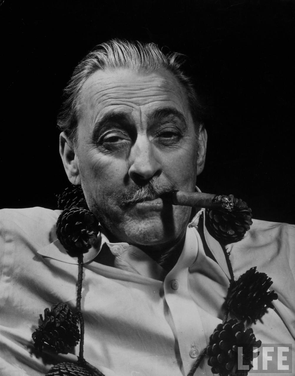 Actor John Barrymore wearing