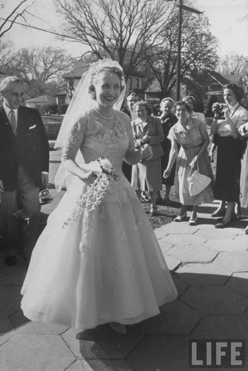 Old Photos: Margaret Trumans Wedding Day