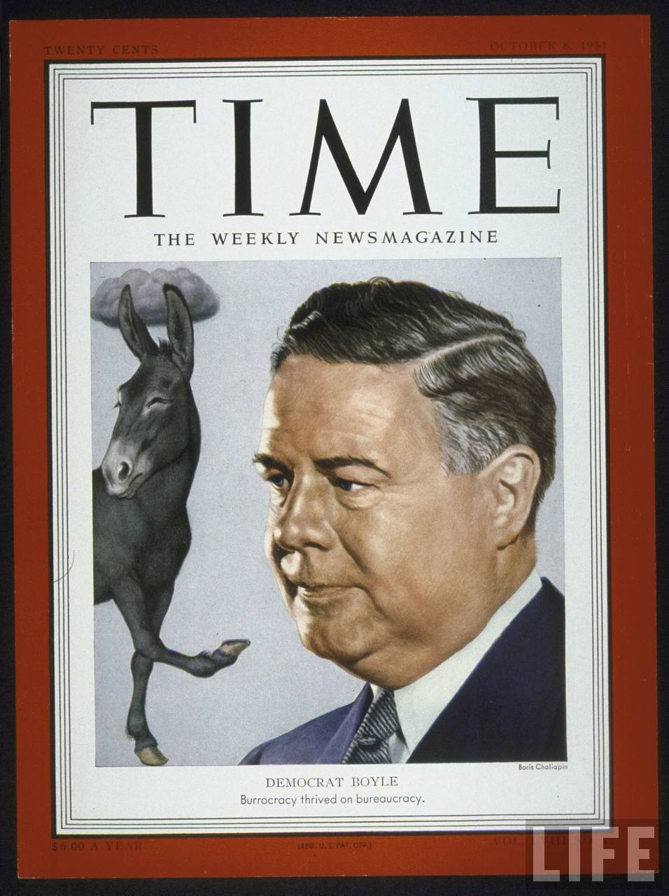 Time cover: 10-08-1951 of William M. Boyle.