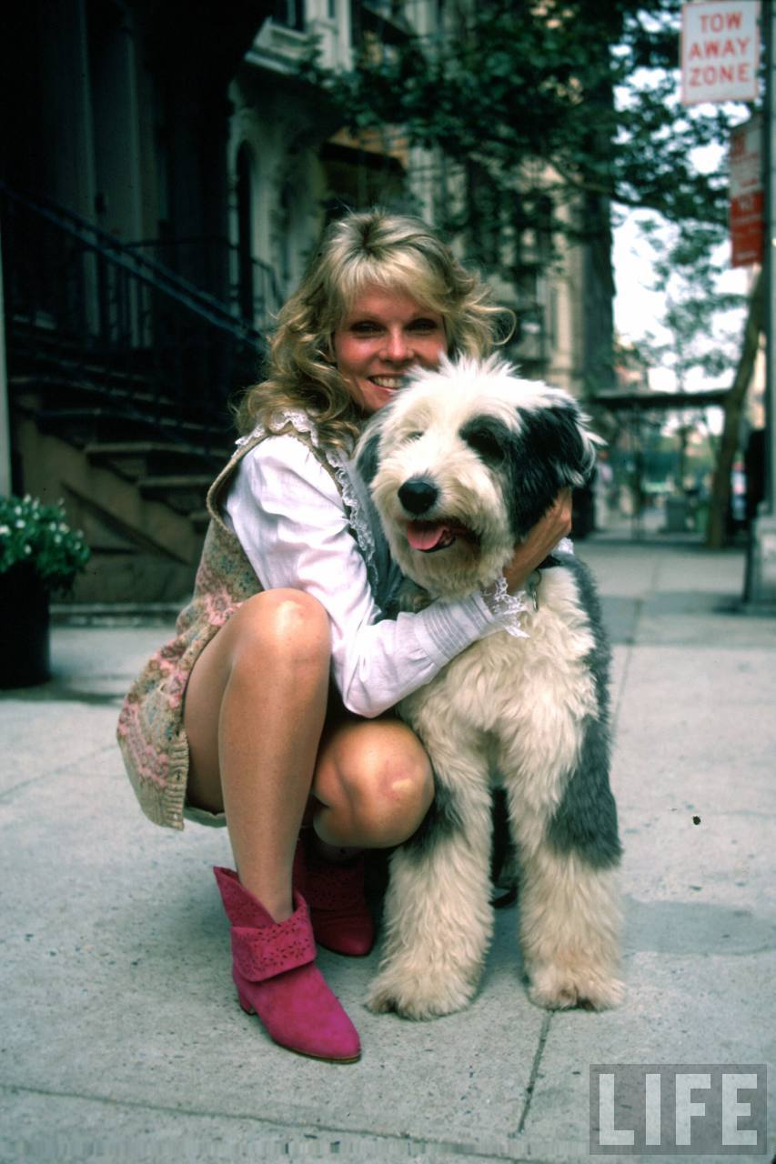 Actress Cathy Lee Crosby and dog Hosted by Back to image details