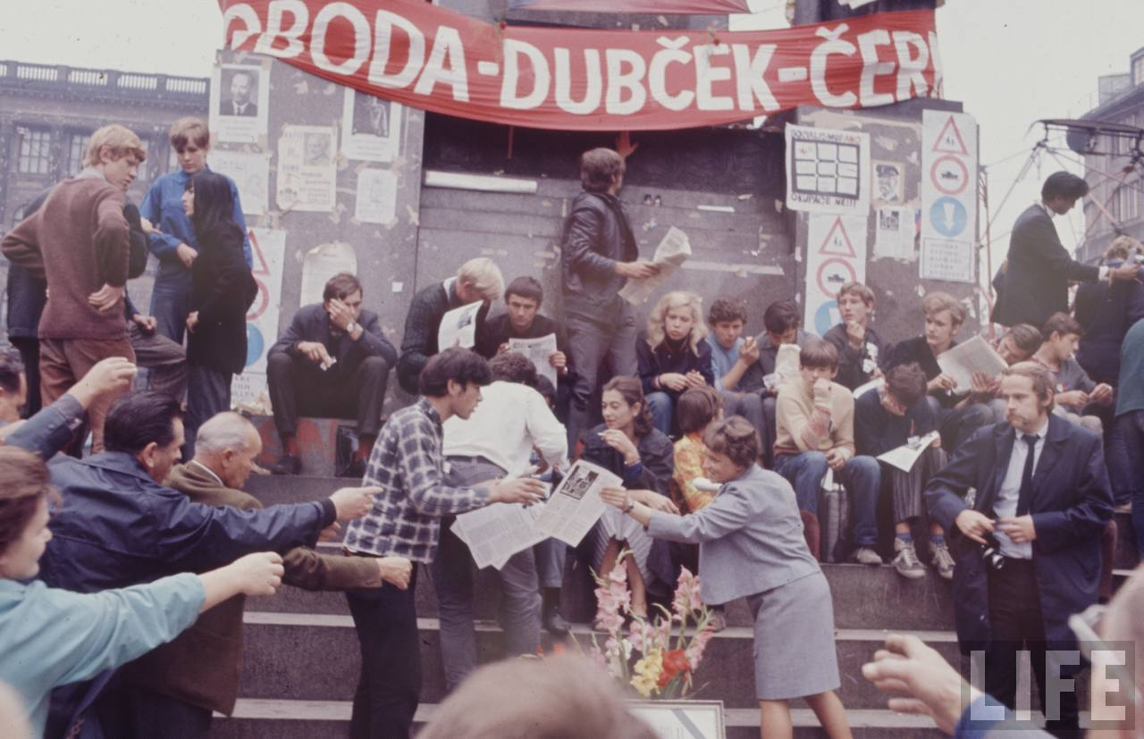 Old Photos:  Czechoslovakian Crisis 1968