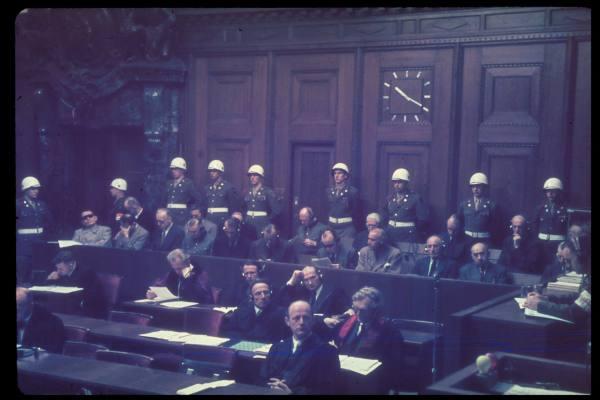 Le Procès de Nuremberg. dans le monde en 1945