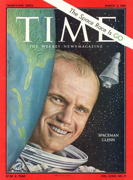John Glenn on TIME cover