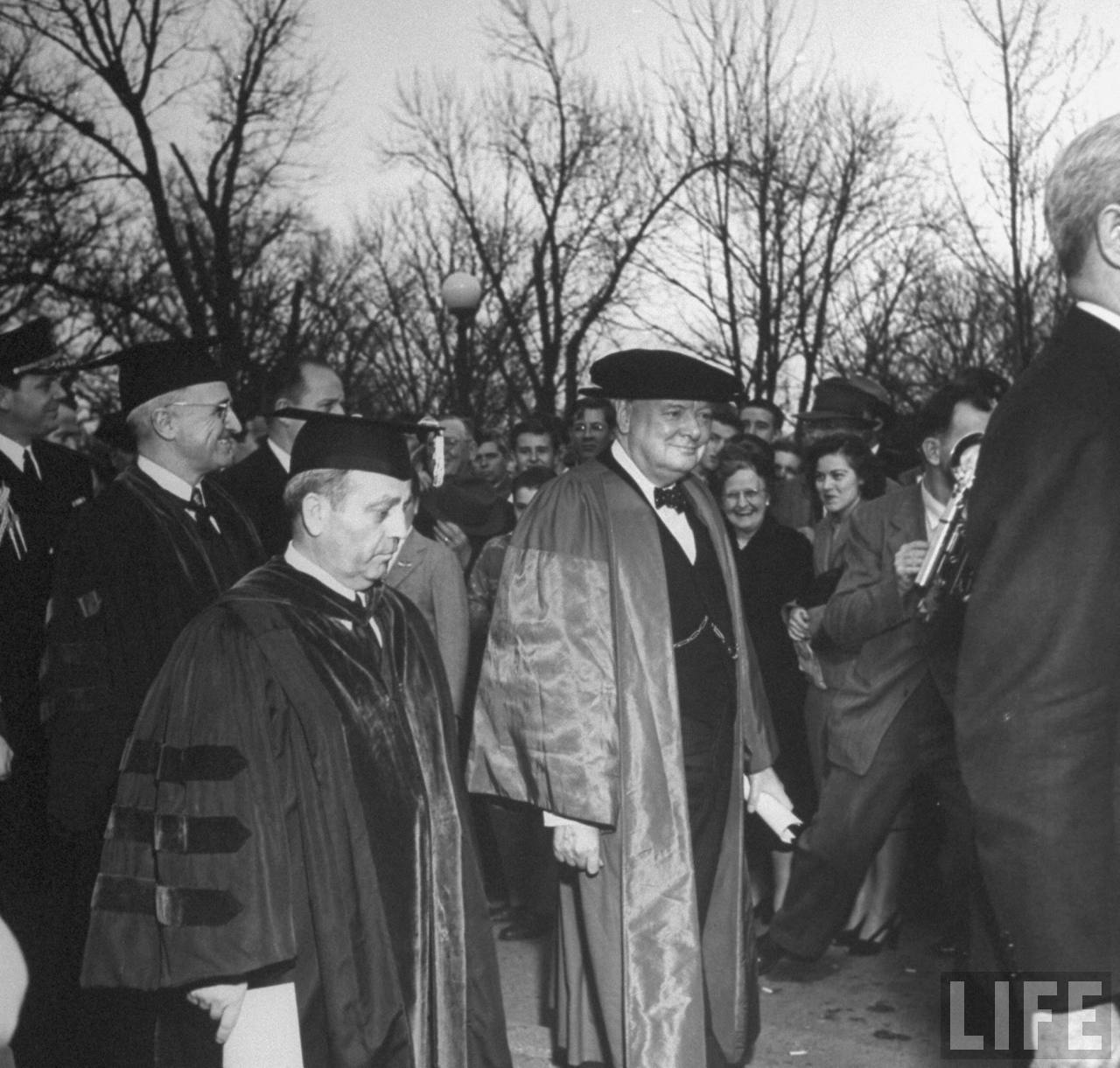 Old Photos: Churchills Iron Curtain Speech