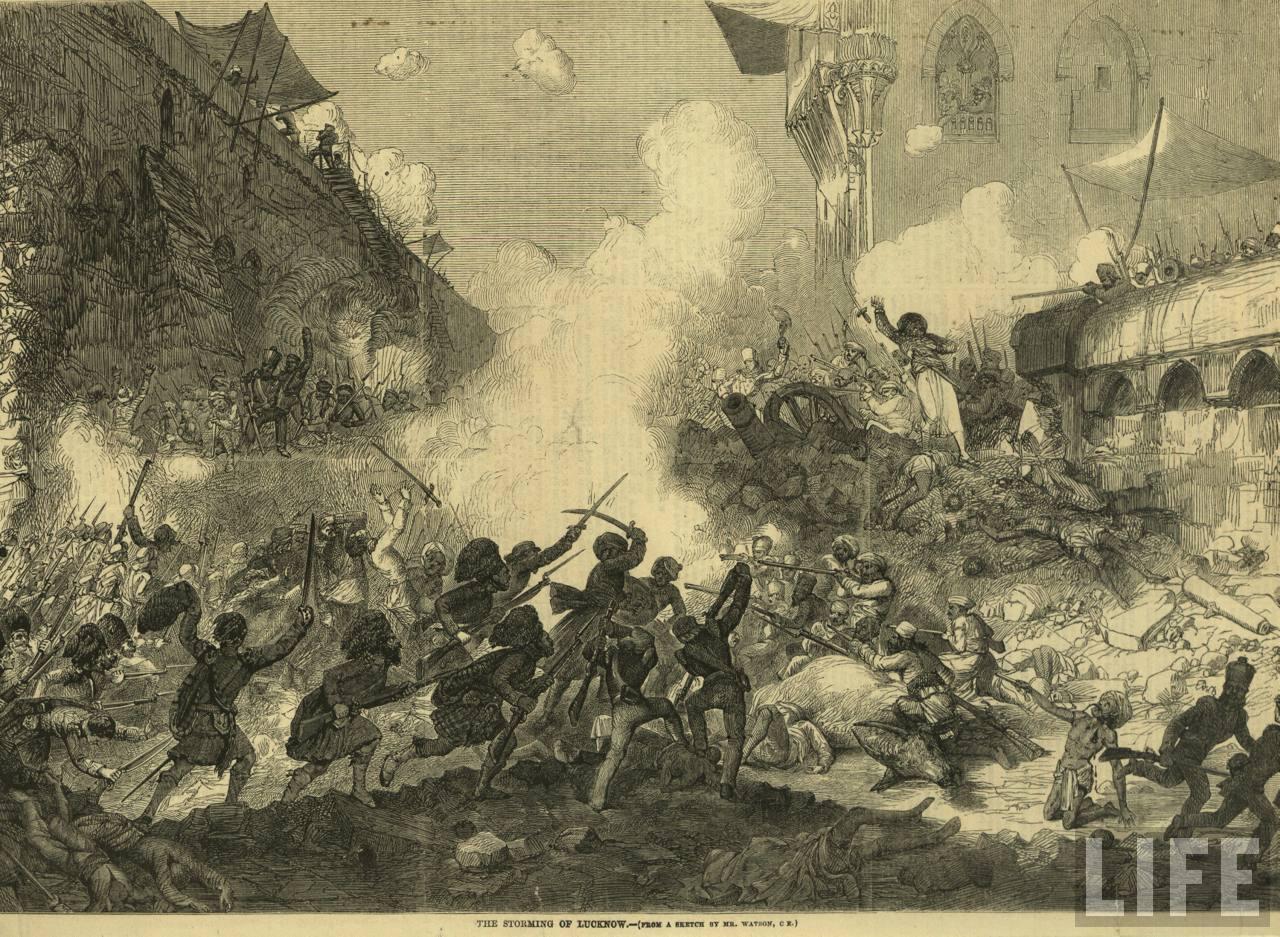 War 1857 Indian Mutiny Camp Lucknow