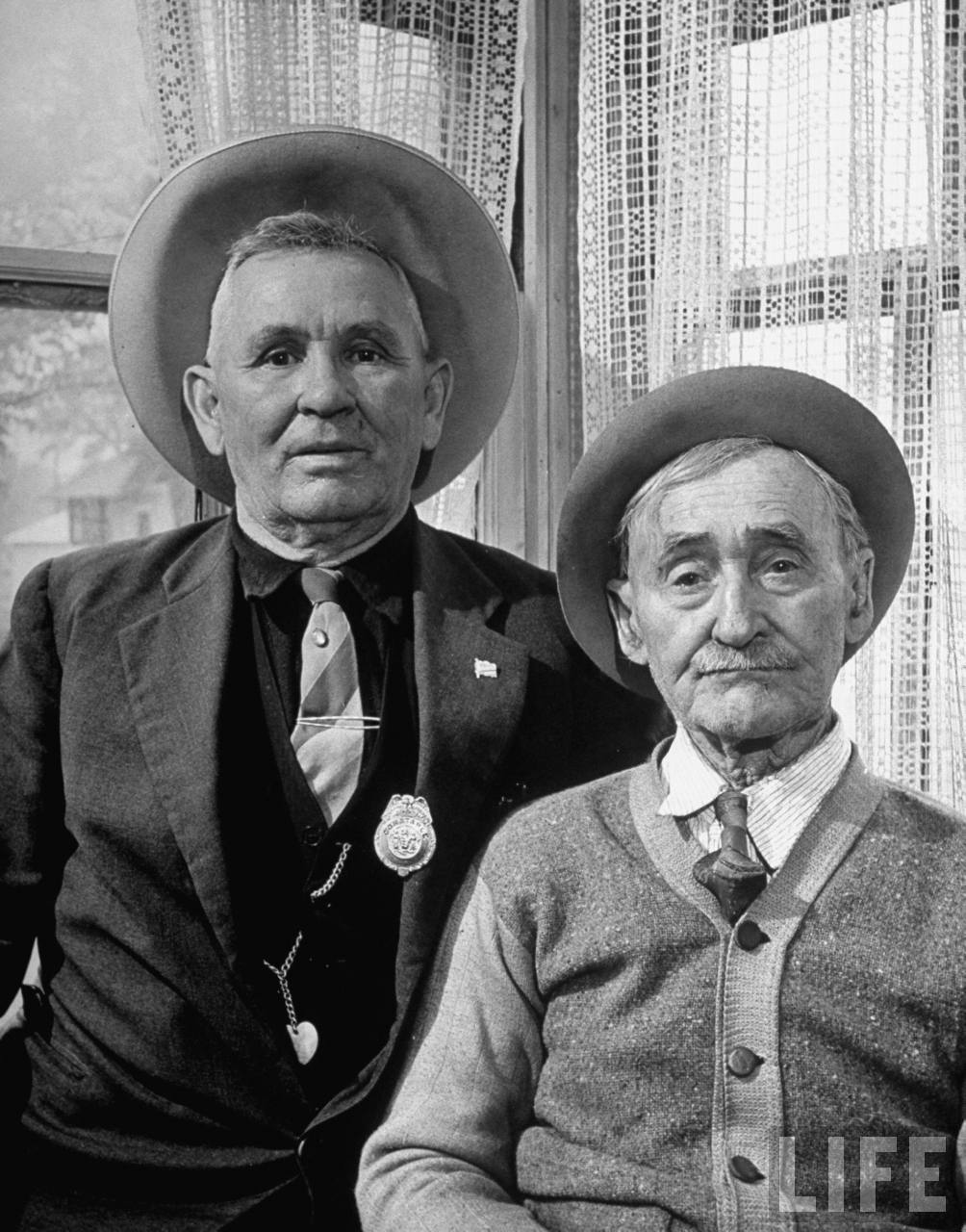 Everett Earp and his father Walter have both been local peace officers for fifty years (from photo essay re Harry Truman's Missouri).