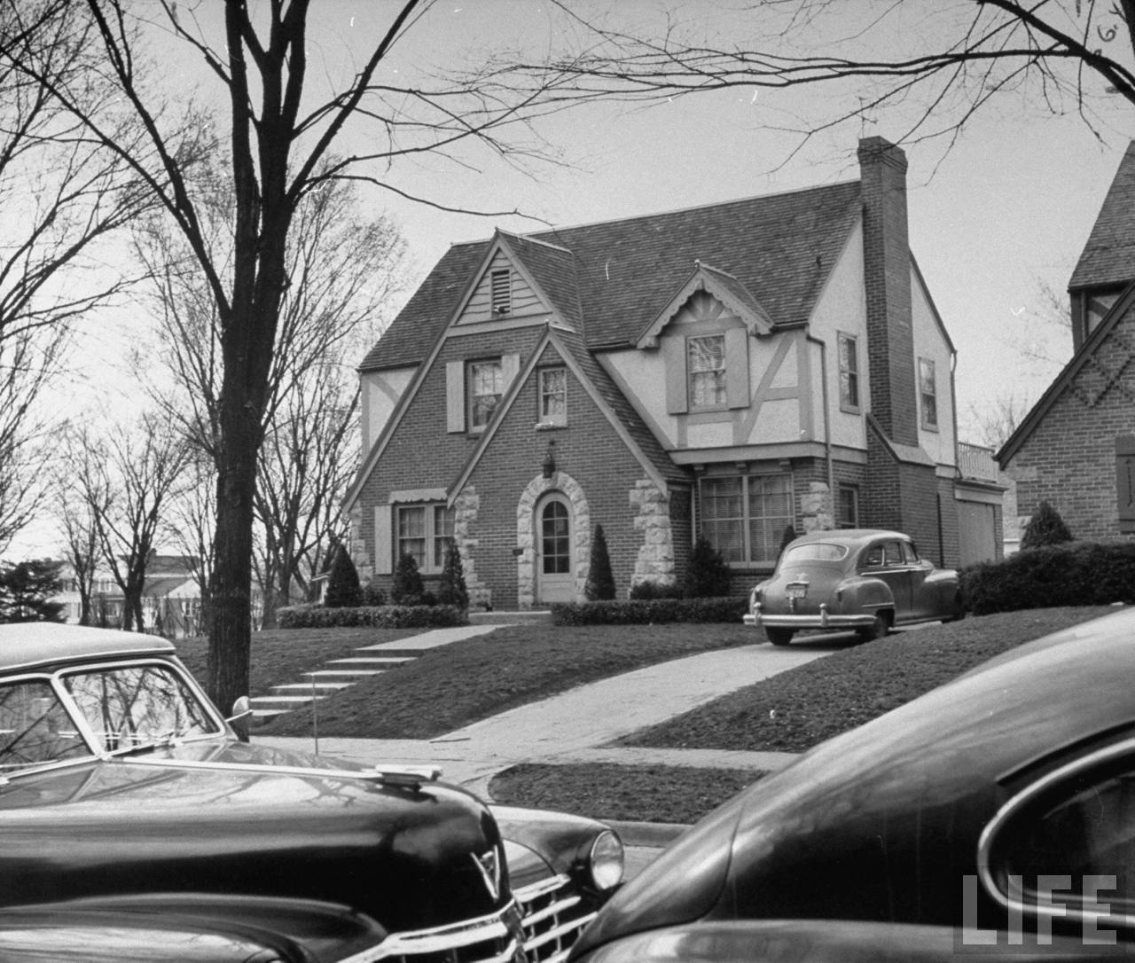 Kansas City politician Charles Binaggios house, where he is a quiet nieghbor and enjoys working in the yard.
