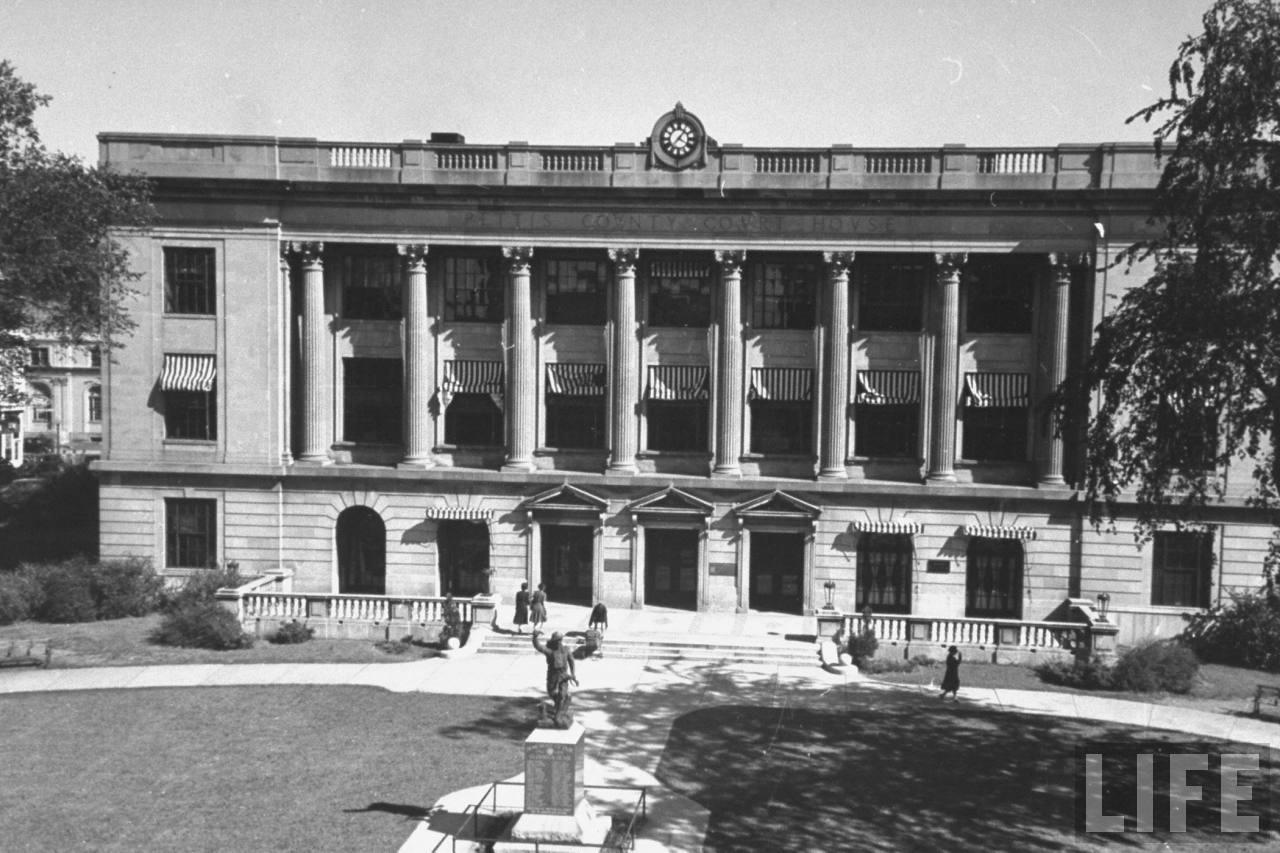 View of Pettis Co. Courthouse. Sedalia, MO, US