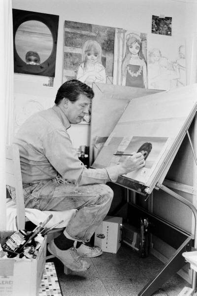 Walter Keane supposedly in his studio
