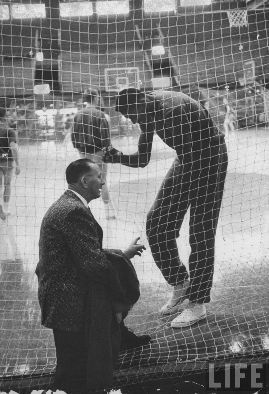 Old Photos: Wilt Chamberlain Plays For The University of Kansas