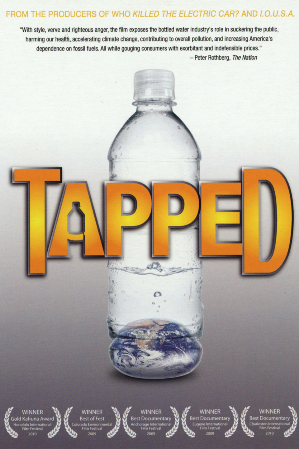 """tapped bottled water While watching the new documentary """"tapped"""" with some of my other greenies, we glanced at each other when one of the water rights experts used a notable quote courtesy of mark twain, """"whiskey is for sipping and water is for fighting."""