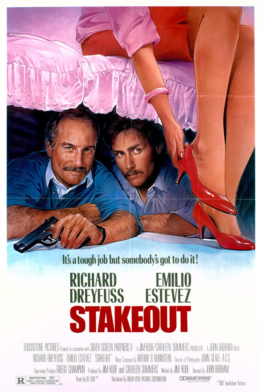 Stakeout (1987 film) wwwgstaticcomtvthumbmovieposters10201p10201