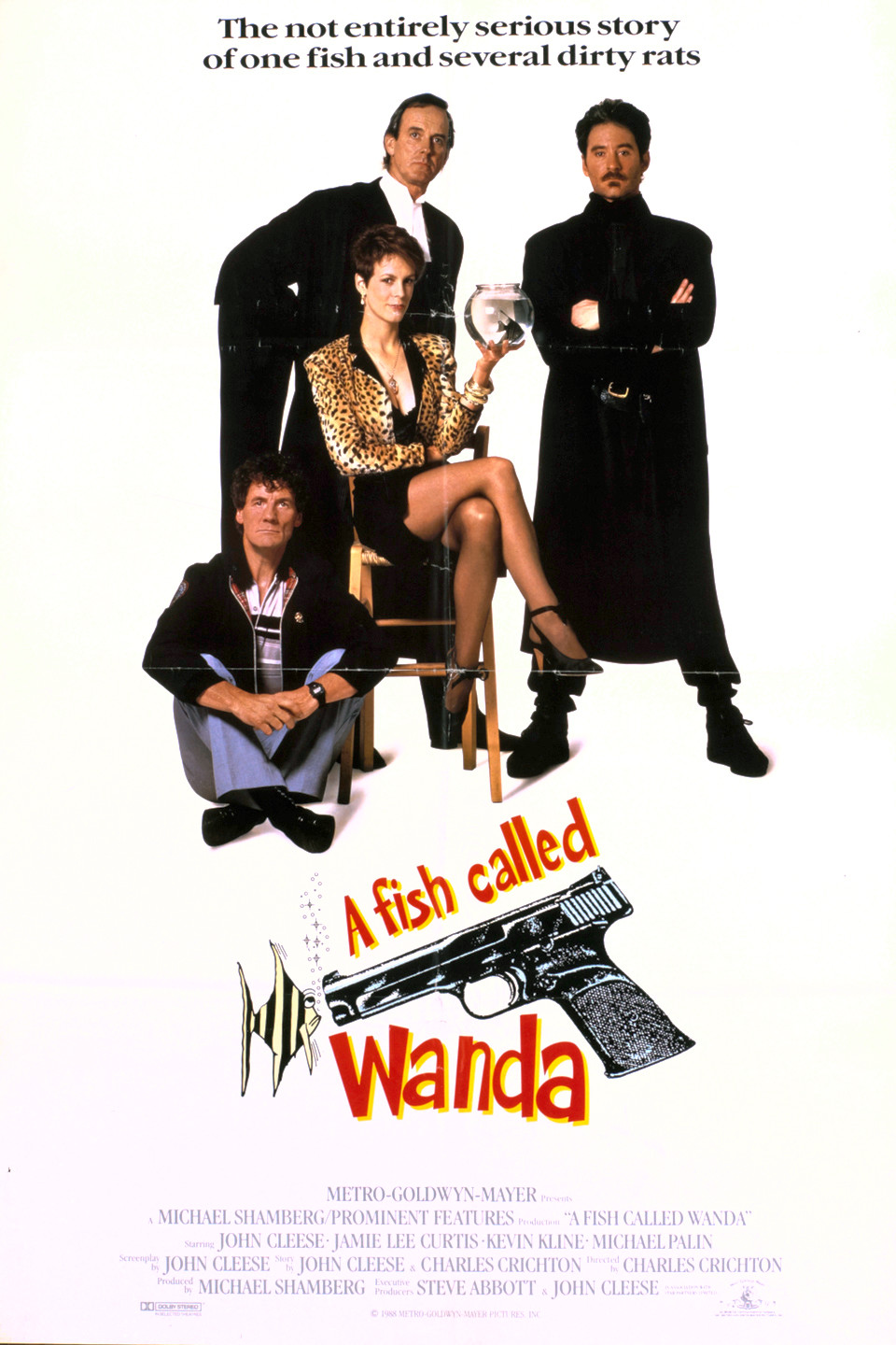an analysis of the comedy film a fish called wanda directed by charles crichton and john cleese Wanda, though decently directed by comedy veteran charles (the lavender hill mob) crichton, is only as good as cleese's formulaic script (cleese is also executive producer.