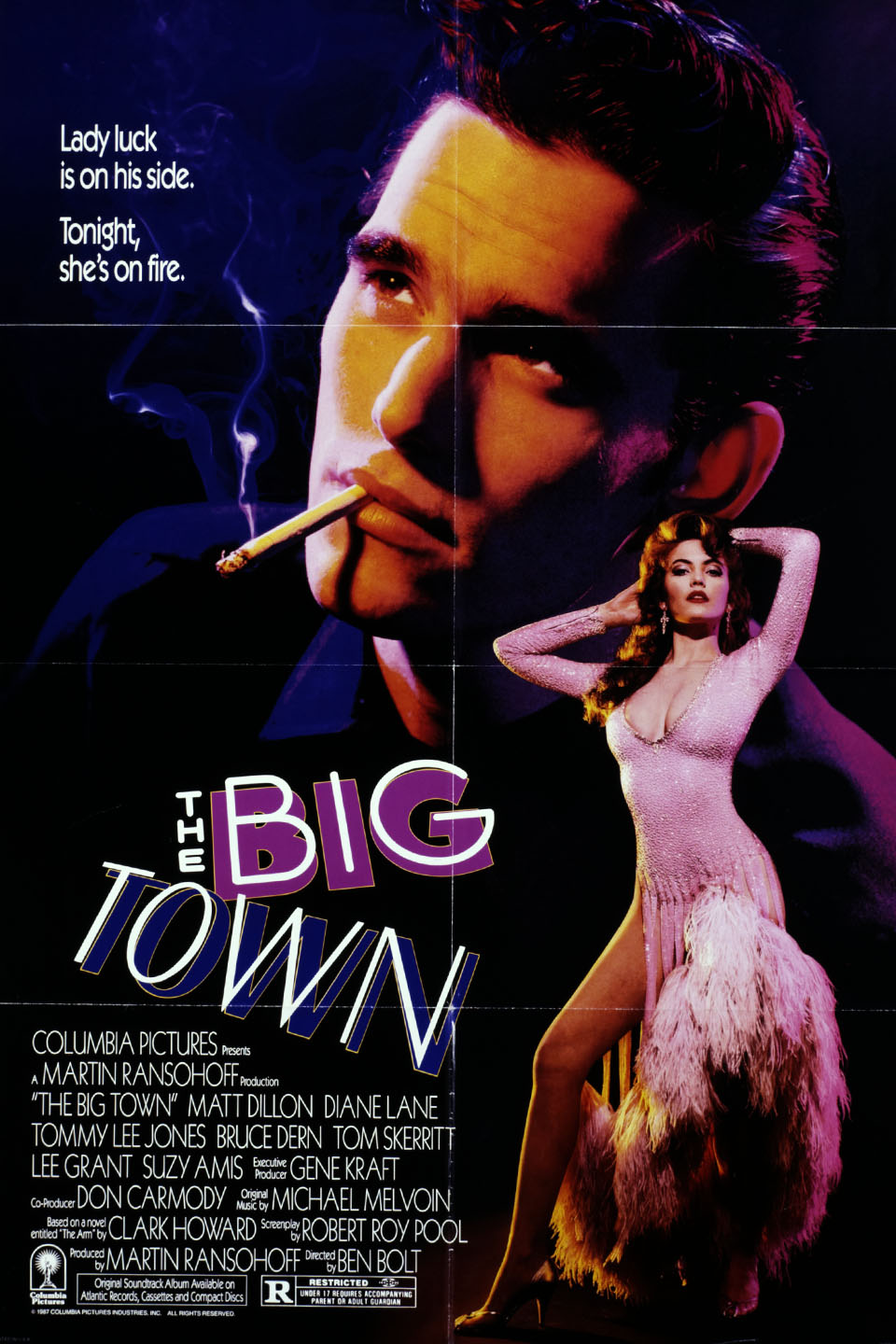 The Big Town (1987 film) wwwgstaticcomtvthumbmovieposters10308p10308