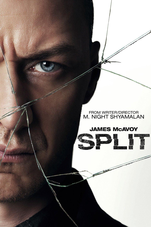 پوستر فیلم Split ( فیلم شکافته ) با بازی جیمز مک آوی