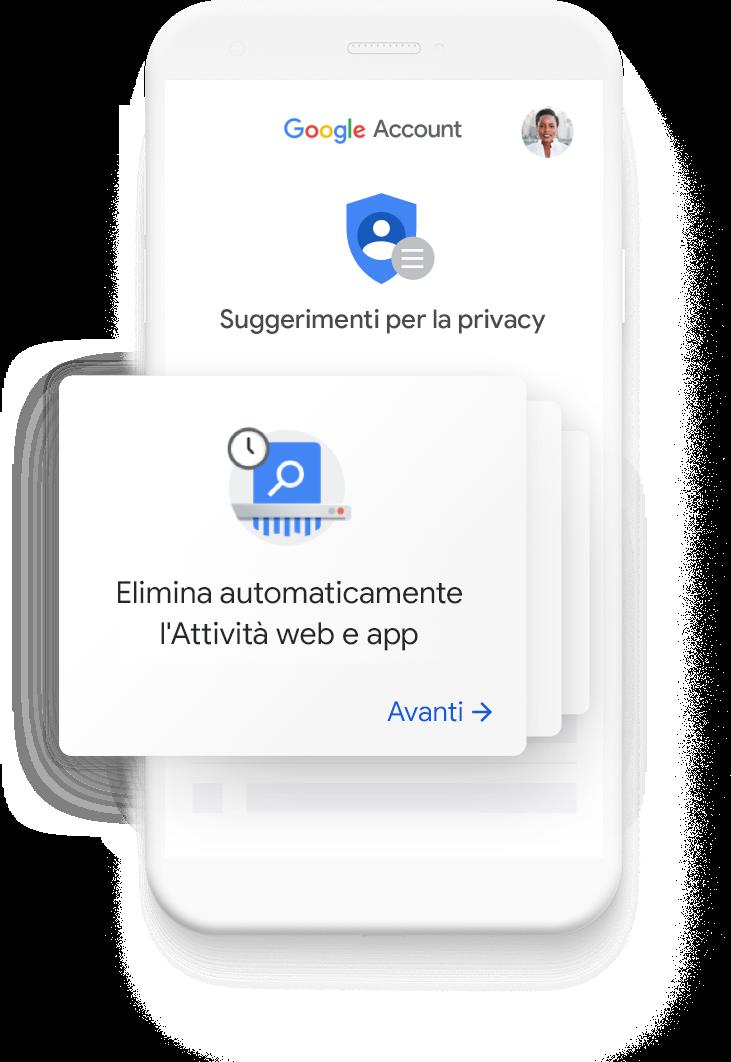 Vai ai suggerimenti per la privacy personalizzati
