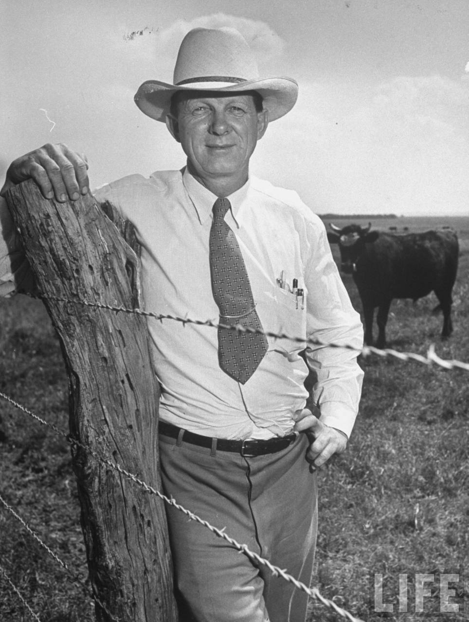 Rancher Ralph Perkins, one of the Kansas delegates to Republican national convention.