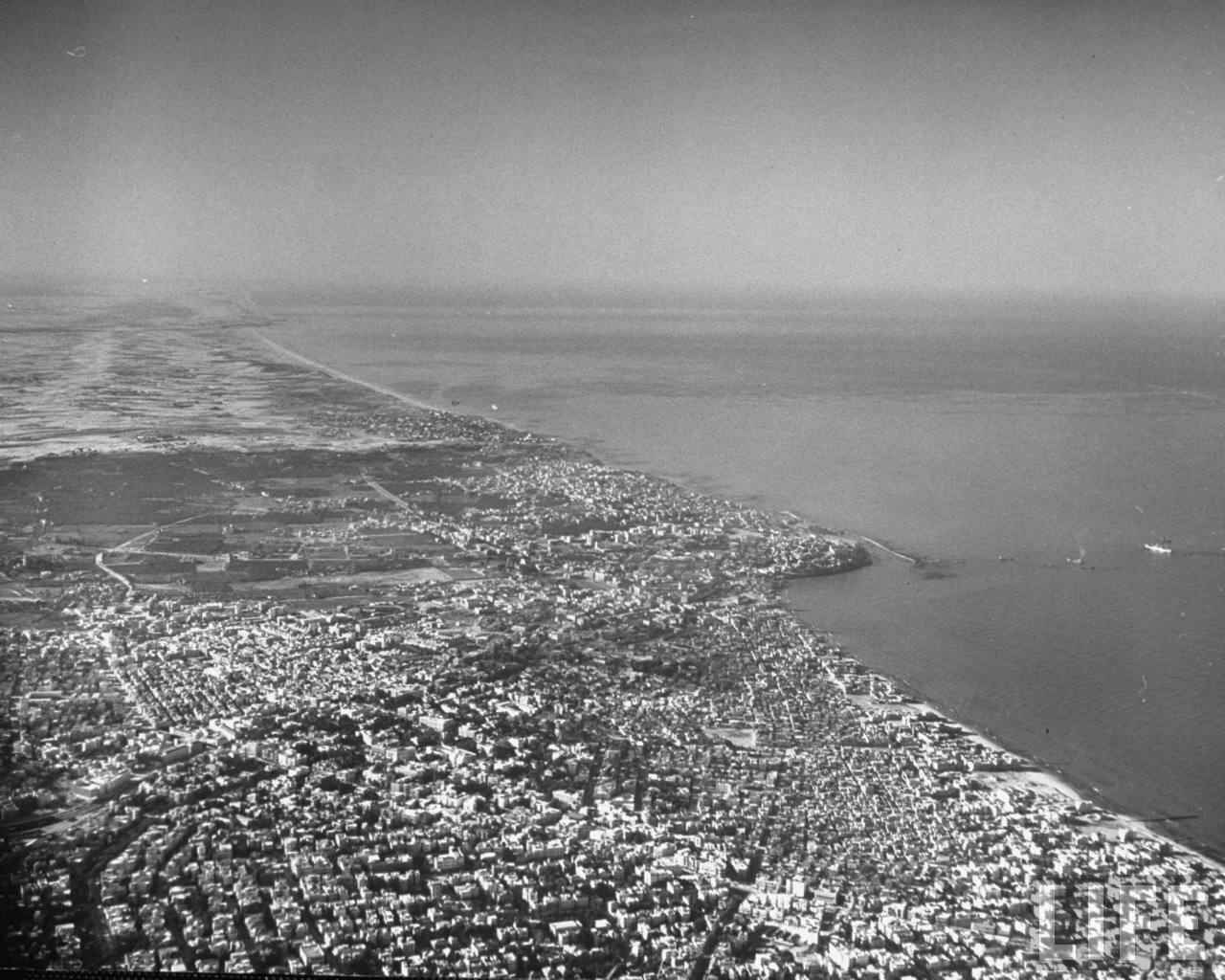 Areal view of Tel Aviv. 1948