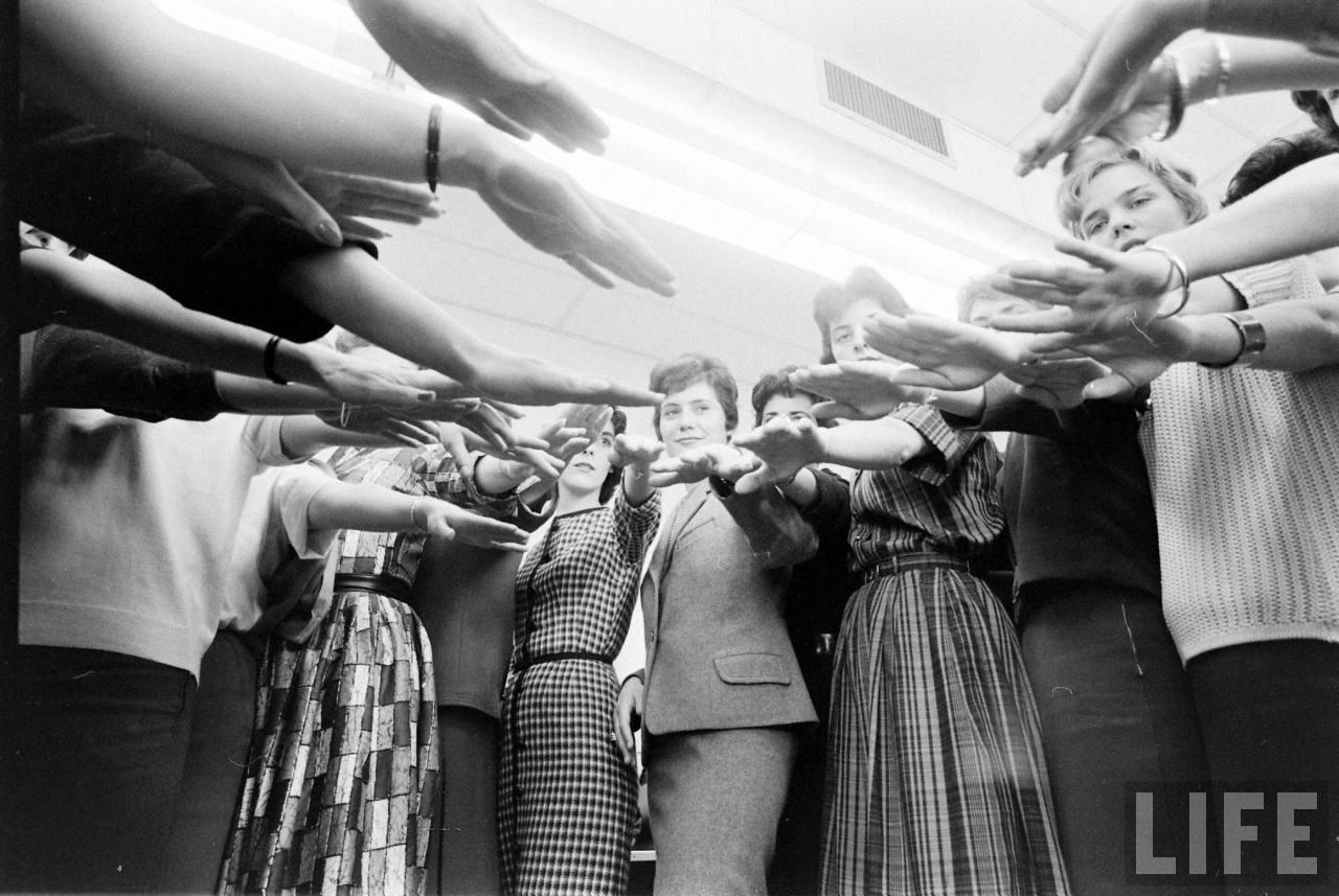 French And German Girls Going Through TWA Stewardess School In Kansas City