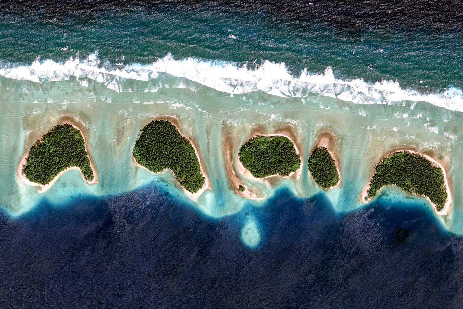 Arno Atoll, Marshall Islands – Earth View from Google
