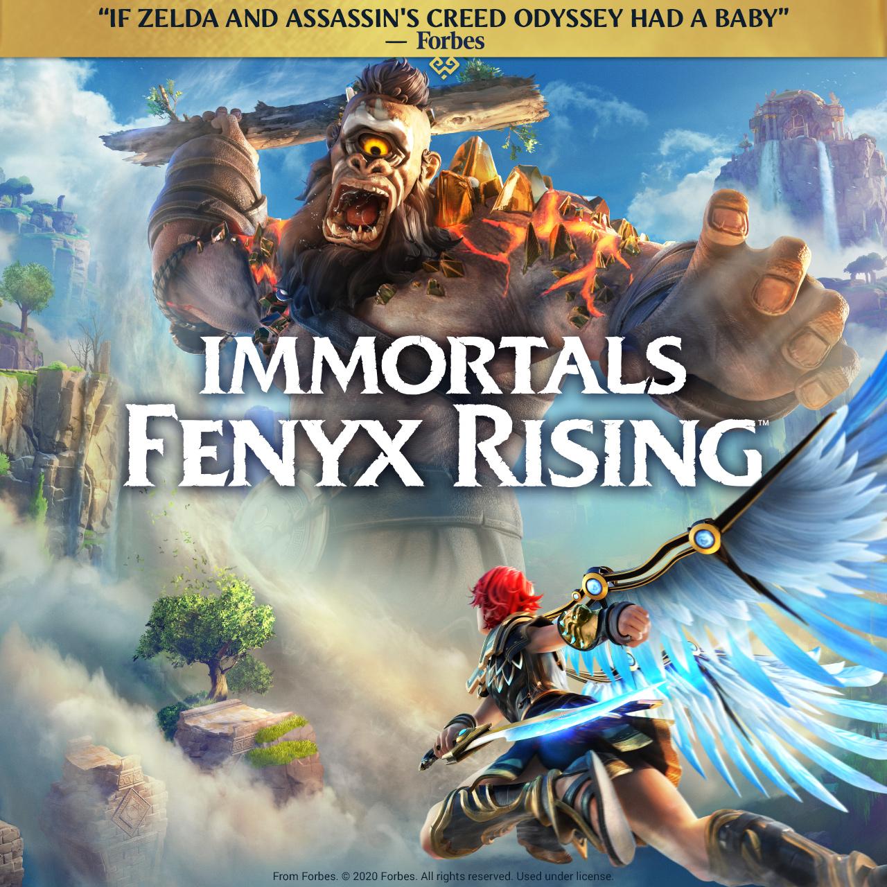 Key art for Immortals Fenyx Rising on Stadia