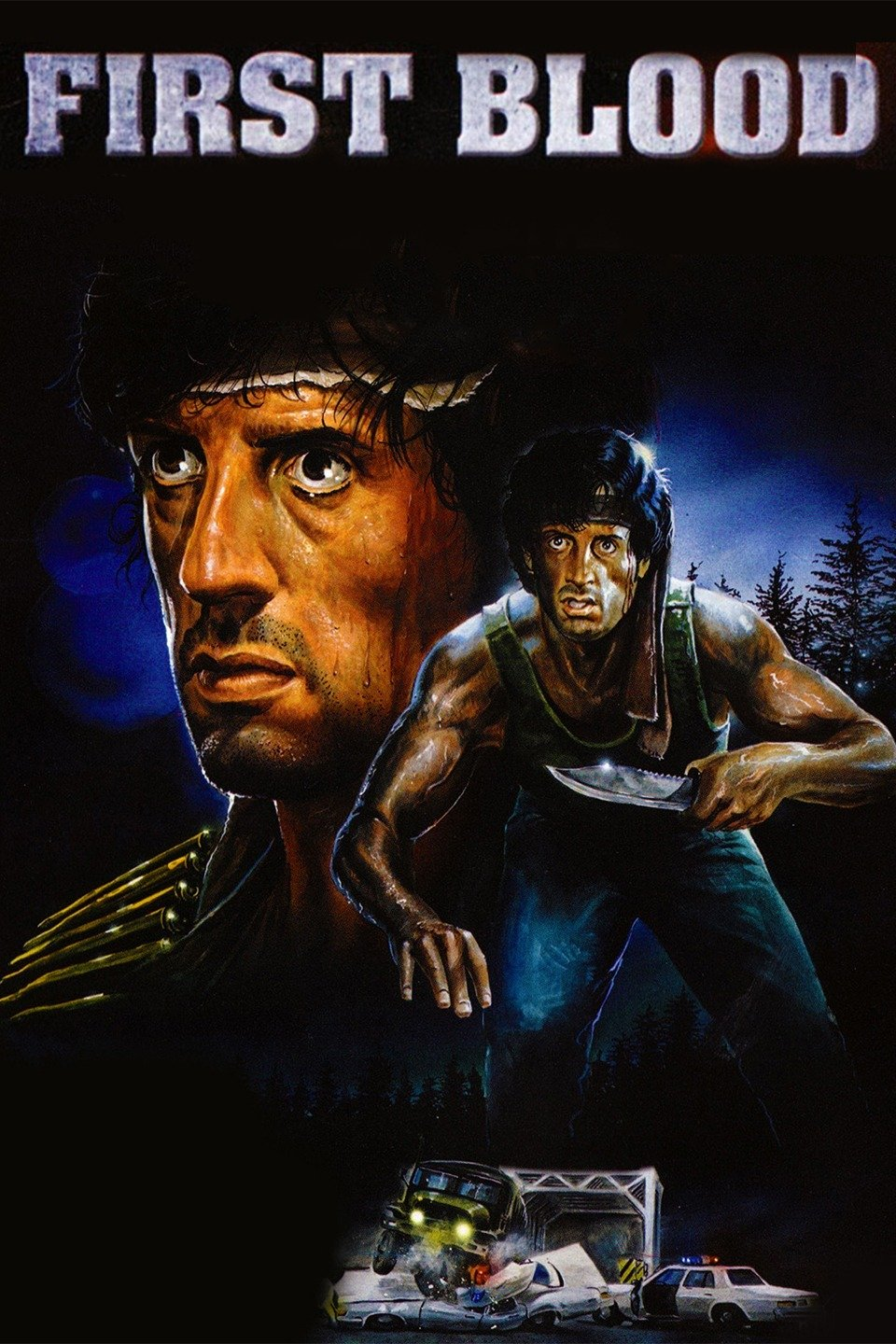 First Blood movie poster feature Stallone