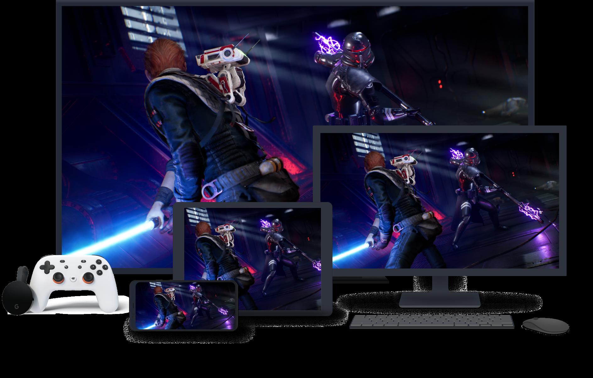 Image du jeu sur les appareils Stadia.