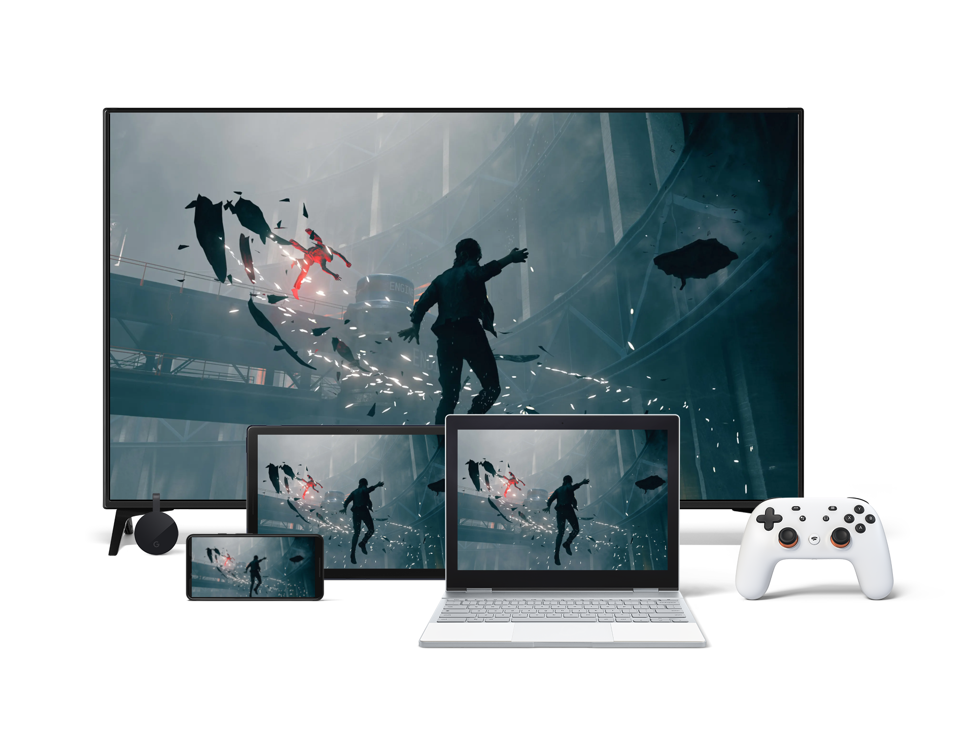 Image of the game on Stadia's devices.